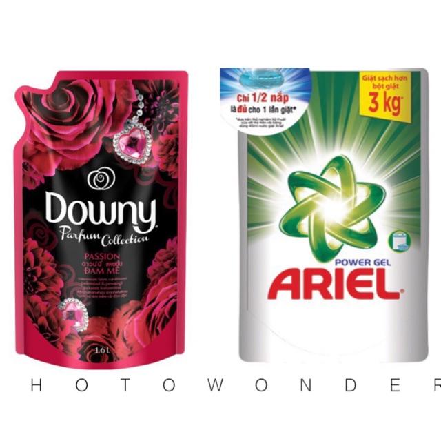 Combo nước giặt ariel 1,4lit+ nước xả downy 1,5lit