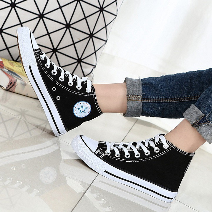 Giày converse cổ cao nam nữ, Giày converse, giày thể thao nam, giày thể thao nữ, giày thể thao trẻ trung năng động SP01