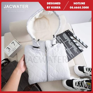 Áo phao trần trám nam chống nước, vải bông lót lông cừu màu trơn phong cách Hàn Quốc JACWATER V555