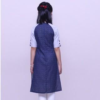 Áo dài bé gái, áo dài trẻ em truyền thống chất liệu linen 100% sợi tự nhiên, thiết kế tinh tế