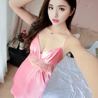 Váy Ngủ- Đẹp- Gợi Cảm MS1077 Hồng