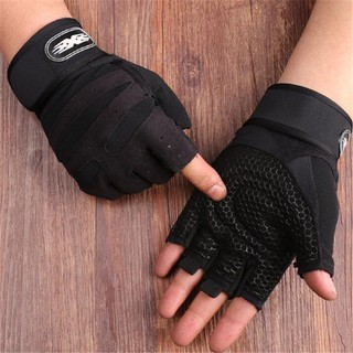 CIN Men Weight Lifting Gym Glove Fitness Wrist Wrap Sports Workout Exercise Training