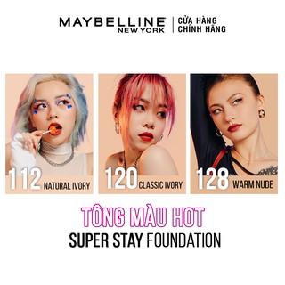 Hình ảnh Kem Nền Che Khuyết Điểm 24H Lâu Trôi Che Phủ Cao SuperStay Full Coverage Foundation Maybelline New York 30ml-6