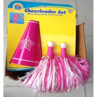 Bộ nón nhựa cứng và 2 cây cổ vũ nhựa Kids Stuff Canada. cheerleader