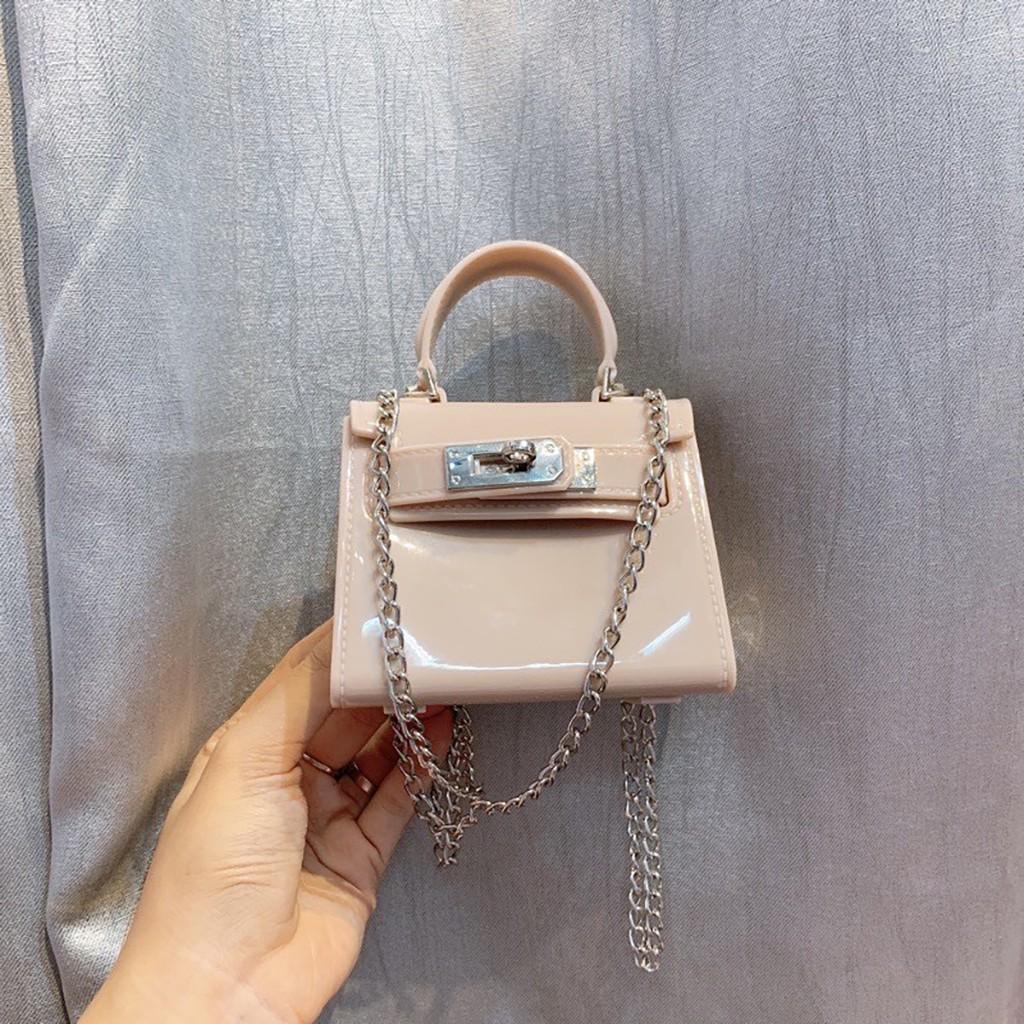Túi đeo chéo mini nữ silicon đẹp đi chơi cao cấp MN03