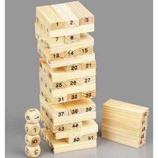 Hàng mới Bộ đồ chơi rút gỗ Wiss Toy 54 thanh cho bé (5 cm x 5cm x 16.5cm)