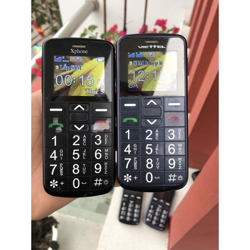 Điện thoại Viettel V6216i Hoặc Xphone 2 Sim Cũ (80-90% Xước) - Điện Thoại Người Già Kèm Pin + sạc