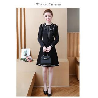 【Quảng Châu Big Size】 Đầm xòe big size quảng châu D1058 (QC Chính góc)