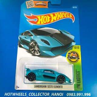 Xe Hot Wheels – Lamborghini Sesto Elemento Xanh