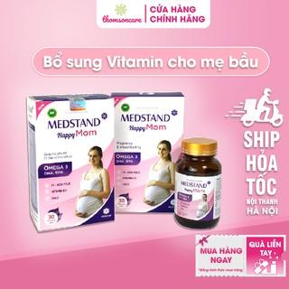 Medstand Happy Mom viên uống bổ sung dưỡng chất và vitamin omega 3 dha cho thai nhi hộp 30 viên tăng cường sức đề kháng thumbnail