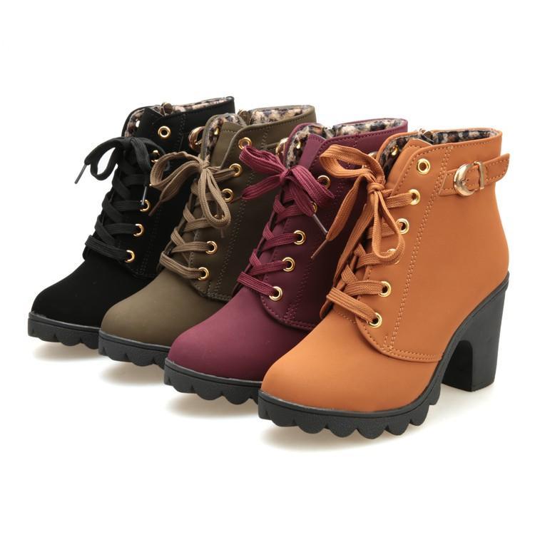 Giày boot nữ dây kéo thời trang Có BIG size 35-42 - G009