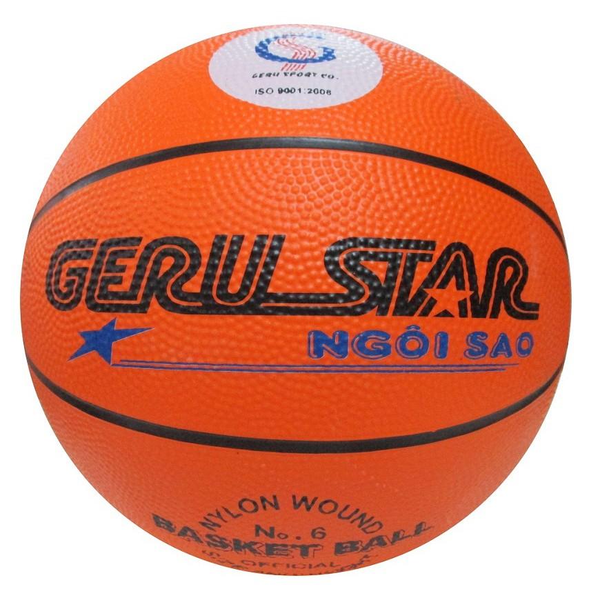 Trái bóng rổ cao su Geru Star màu cam