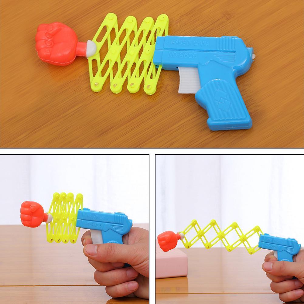 new hot sales Prank Elastic Spring Fist Magic Funny Children Toys