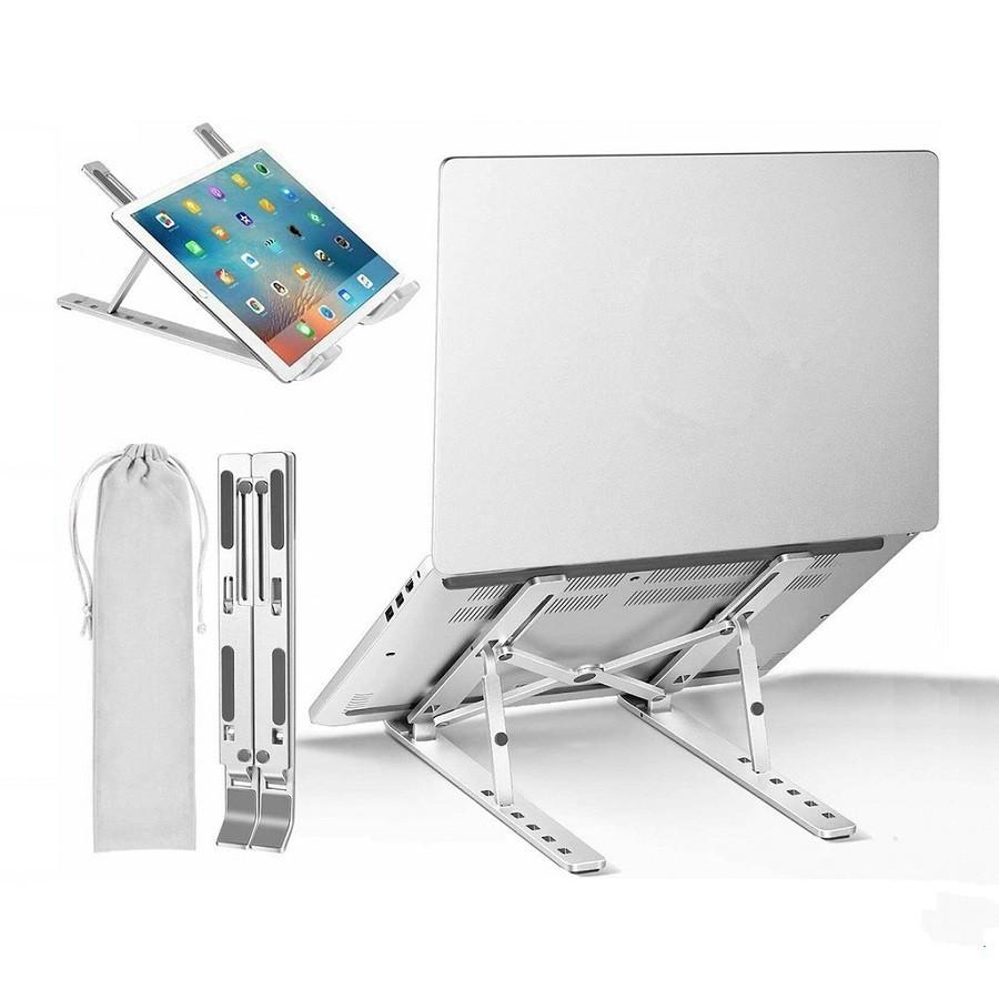 Giá Đỡ Laptop Stand Nhôm Hỗ Trợ Tản Nhiệt Có Thể Gấp Gọn Điều Chỉnh Độ Cao Để Máy Tính Xách Tay MacBook IPad 11-15 inch