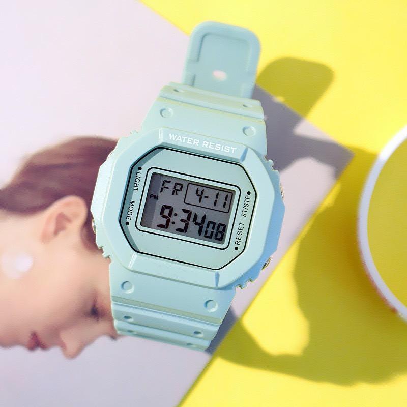 Đồng hồ thể thao nam nữ TAIXUN FASHION SPORT mặt vuông siêu đẹp DH78