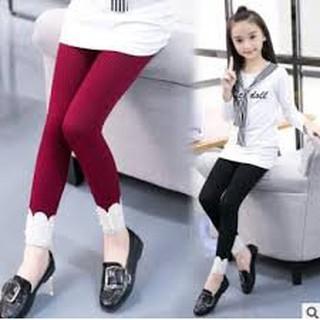 Quần tất len tăm cho bé gái hạt đá - Quần legging len tăm cho bé từ 3-10 tuổi Quần Len Tăm Đính Hạt Gấu Quần - Quần tất