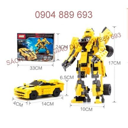 Xếp hình kiểu LEGO 225pc Ô tô - Người máy
