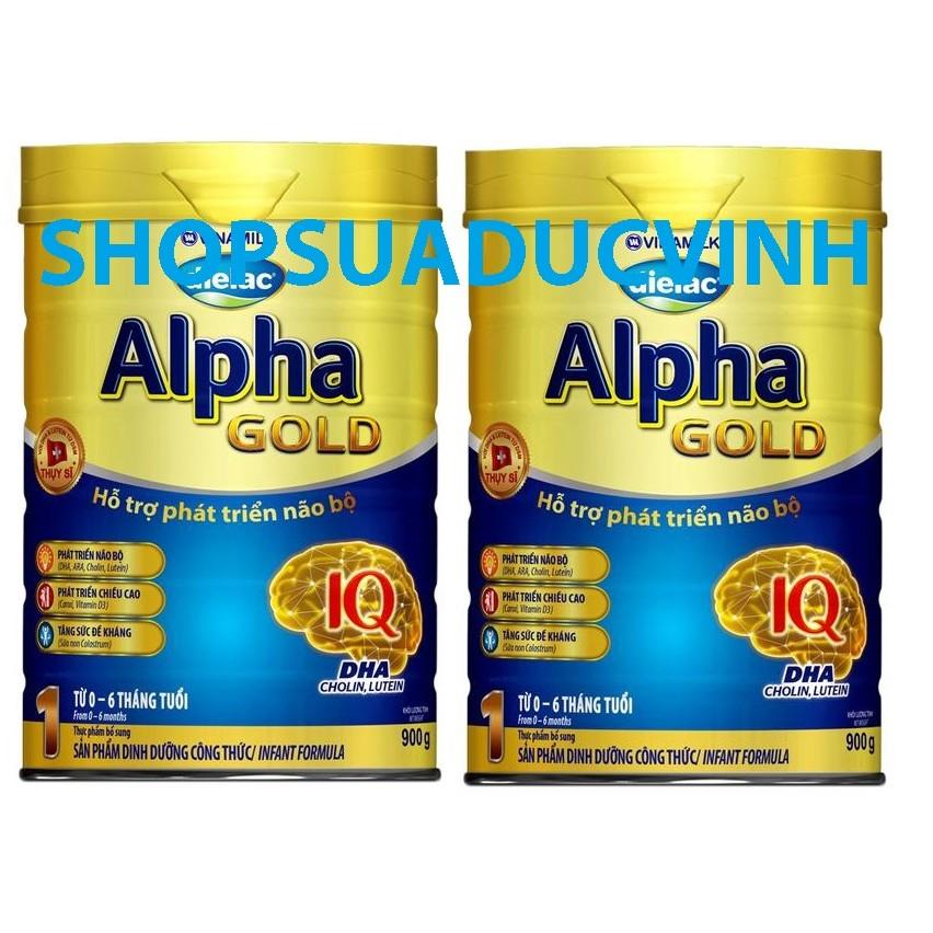 Bộ 2 hộp Sữa bột Vinamilk Dielac Alpha Gold Step 1 (900g) - 2519080 , 58976923 , 322_58976923 , 539000 , Bo-2-hop-Sua-bot-Vinamilk-Dielac-Alpha-Gold-Step-1-900g-322_58976923 , shopee.vn , Bộ 2 hộp Sữa bột Vinamilk Dielac Alpha Gold Step 1 (900g)