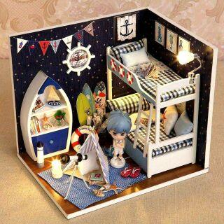 Kèm búp bê – Mô hình nhà gỗ búp bê dollhouse DIY – H011 Face The Sky