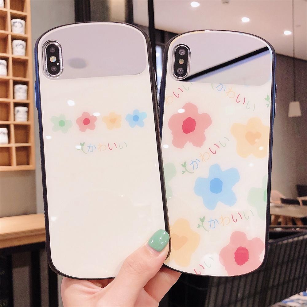 Soft All inclusive XR 7Plus 8Plus Cute X Fashion IPhone 7 8 XS MAX XS Anti-fall Cartoon flowers Phone Case