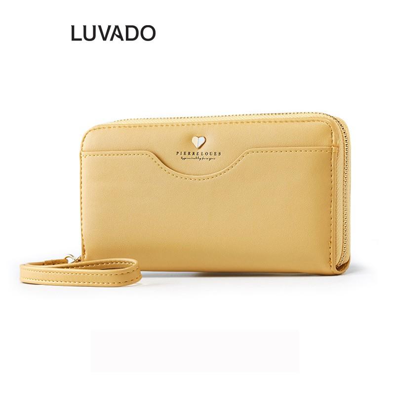 Ví nữ dài cầm tay cao cấp PIERRE LOUES đẹp đựng tiền nhiều ngăn LUVADO VD366