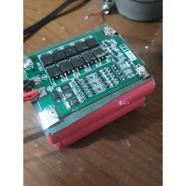 Khối pin 3s2p (cell pin cũ bóc từ pin laptop)