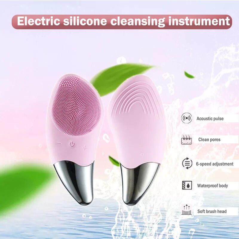 Máy massage rửa mặt tẩy da chết bằng silicone