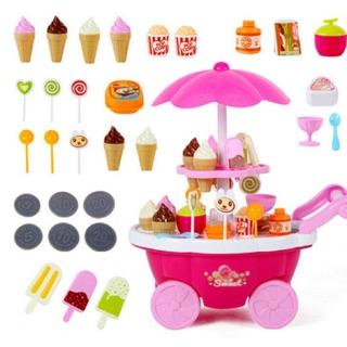 Xe đẩy bán kem 2 tầng cho bé