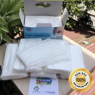 Khẩu trang y tế hapapolo  4 lớp trắng h/50c