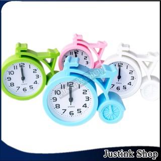 Đồng hồ báo thức trang trí để bàn hình xe đạp 2 mẫu đa dạng cho bạn lựa chọn