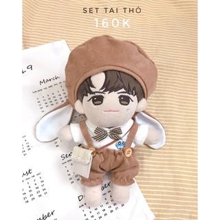 Outfit doll 20cm -15cm -IDV – Set tai thỏ