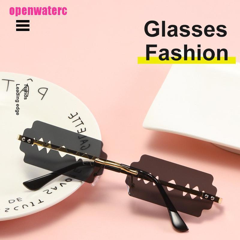 OPE Fashion Rimless Woman Sunglasses Vintage Unique Frameless Steampunk Eyeglasses
