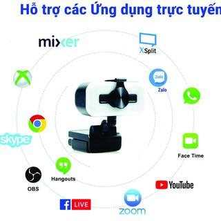 WebCam Tích hợp Mic, Độ Phân Giải Full HD 1080P Có Đèn trợ sáng thumbnail
