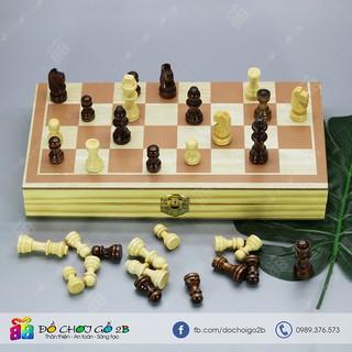 [FOLLOW 2B] Đồ chơi gỗ Bộ cờ vua bằng gỗ