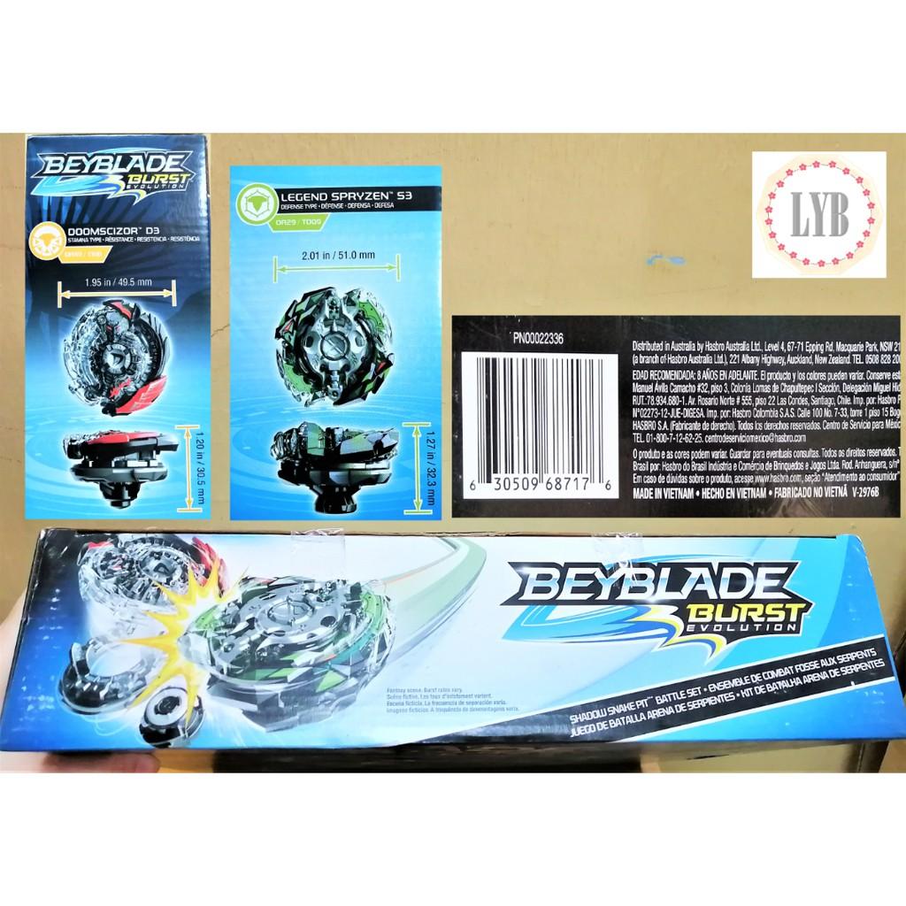 (LYB) Beyblade Burst Evolution Shadow Snake Pit Battle Set Hasbro new 100% full box