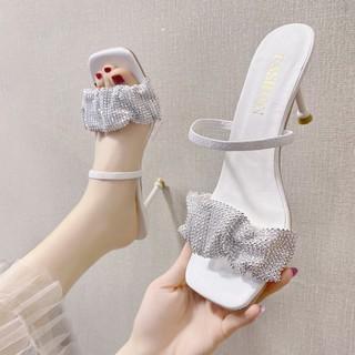 Giày Cao Gót Quai Trong Suốt Thời Trang Cho Nữ
