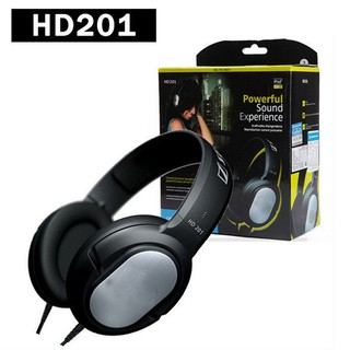 Head-mounted HD201 Pro Closed Back Dynamic Headphones Powerful Bass