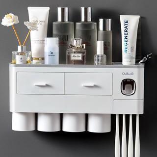 Kệ để đồ nhà tắm hút chân không 2 cốc, 3 cốc, 4 cốc – Bộ nhả kem đánh răng siêu tiện lợi cho mọi gia đình