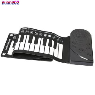 49 Key Speaker Hand Roll Electronic Piano Portable Folding Electronic Soft Keyboard Roll Up Piano