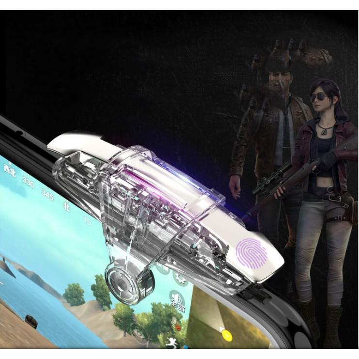 Nút bấm cơ M9 trong suốt, không che màn hình phiên bản mới của phi thuyền K2 chơi game PUBG – 1 bộ gồm 2 chiếc