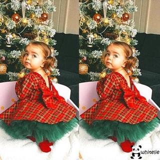 Bộ đầm dự tiệc phong cách giáng sinh đáng yêu cho bé gái