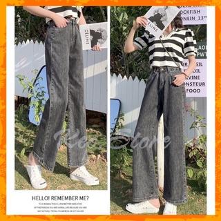 [MÃ KEOS10K3Q GIẢM 20% ĐƠN 200K] Quần jeans nữ dáng suông ống rộng chất vải bò lên form đẹp thumbnail