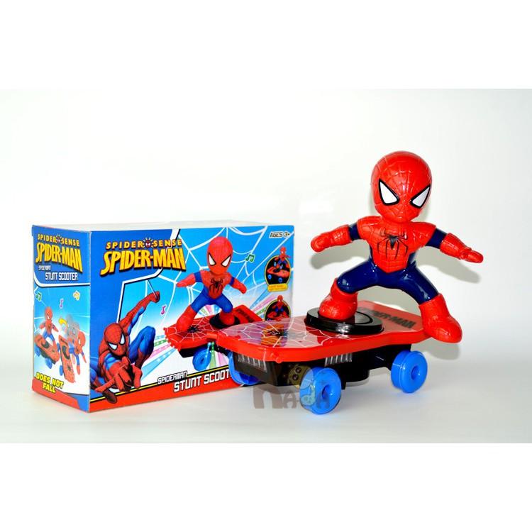 [SHOPEE TRỢ GIÁ] Người nhện lướt ván chạy pin phát nhạc