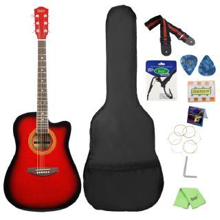 41inch Basswood Acoustic Guitar cutaway Fingerboard Guitarra 6 String Ukulele Beginner Guitar