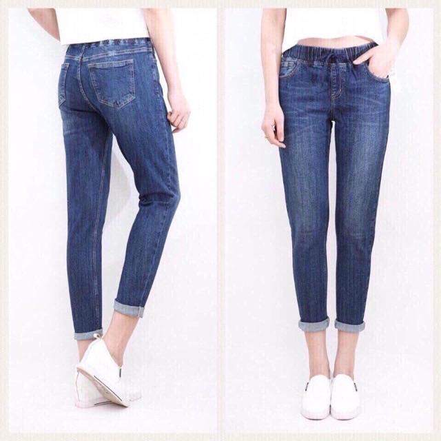 Quần jeans nữ dài cạp chun - 2594705 , 1298365432 , 322_1298365432 , 145000 , Quan-jeans-nu-dai-cap-chun-322_1298365432 , shopee.vn , Quần jeans nữ dài cạp chun