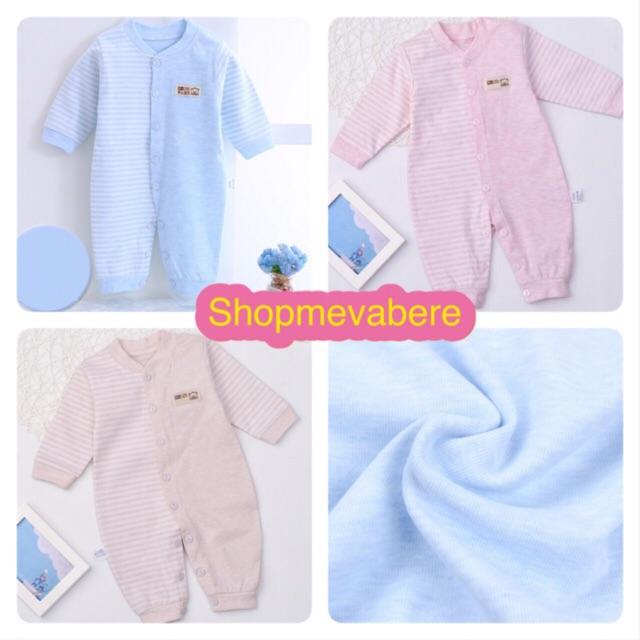 [CHỌN MÀU] Body liền thân dài tay cotton cho bé sơ sinh, hàng đẹp xuất Hàn