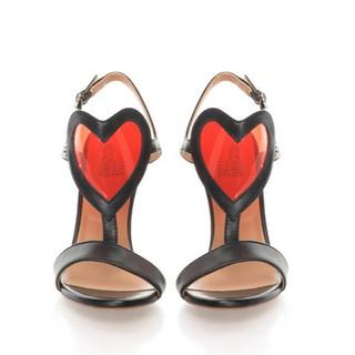 [Mã FASHIONLM4 giảm 15% tối đa 500k đơn từ 1tr] Sandal nữ cao gót Love Moschino màu đen JA1628AC03JA1-00A thumbnail