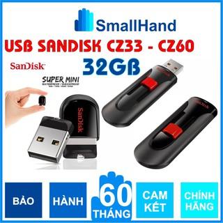 USB 32GB/16GB SanDisk Chính Hãng – Cruzer Fit CZ33 & Cool Circle CZ60 – Super Mini – USB Flash Diver – Bảo hành 5 năm