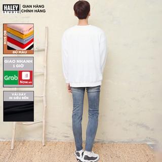 Áo Sweater Trơn Nam Nữ Nnisex phong cách Hàn Quốc cá tính, Chất nỉ bông đẹp mã HD05 - Tặng vòng tay xinh thumbnail