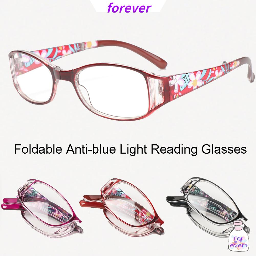 🌱FOREVER🌱 Fashion Anti-blue Light Glasses Printing Folding Presbyopia Eyewear Foldable Reading Eyeglasses Vision Care Vintage Classic Men Women Radiation Protection Computer Goggles/Multicolor